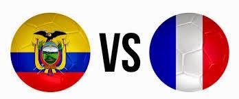 Ecuador (eliminada) 0 - 0 Francia. Grupo E
