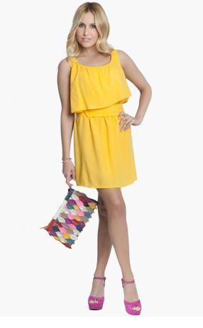 El vestido amarillo de berta collado rebuscando en el - Mi armario de la tele ...