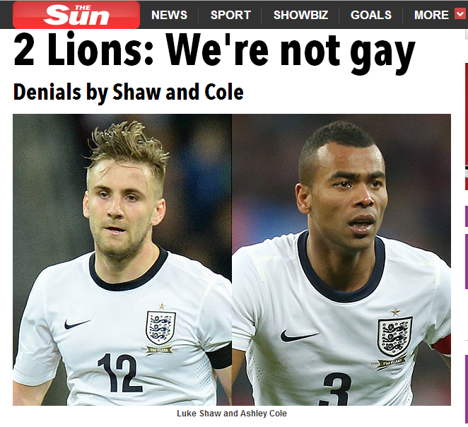 ashley cole gay links