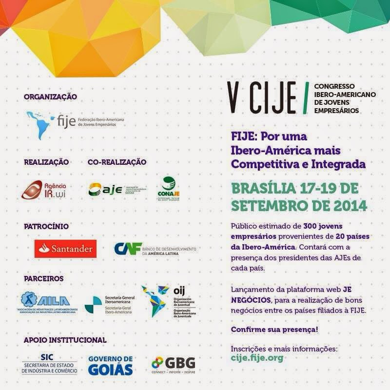Participe do V CIJE Congresso Ibero-Americano de Jovens Empresários