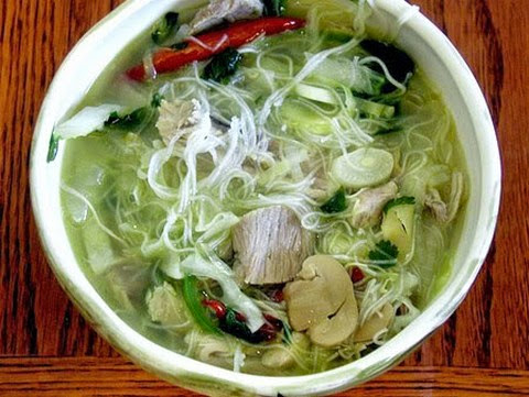 Mushroom Soup With Noodles
