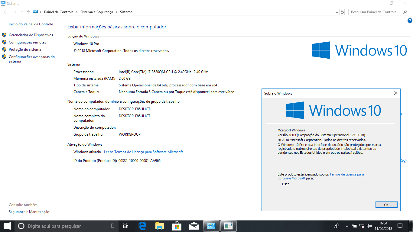 Windows 7 e 10 Pro