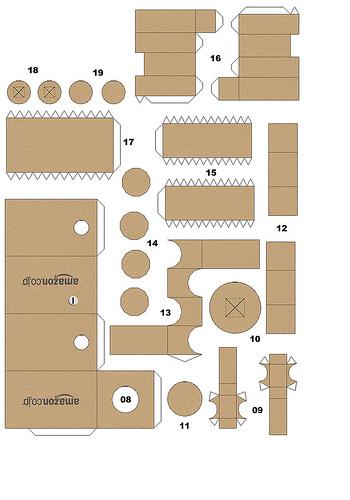 Danbo Papercraft (Cara membuat boneka danbo)