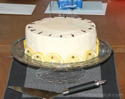 Hot Toddy Layer Cake - vegan.