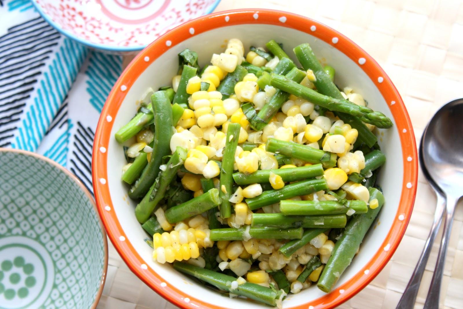 The Bitchin' Kitchin': Corn, Asparagus & Green Bean Salad