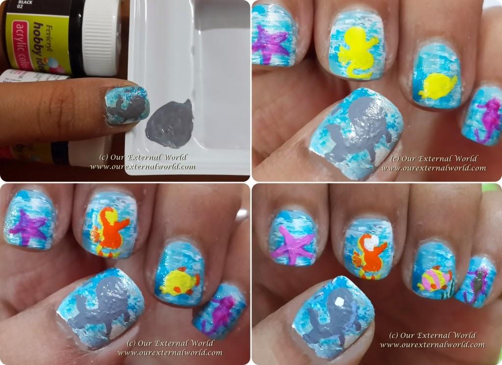 sea life nail art wwwpixsharkcom images galleries