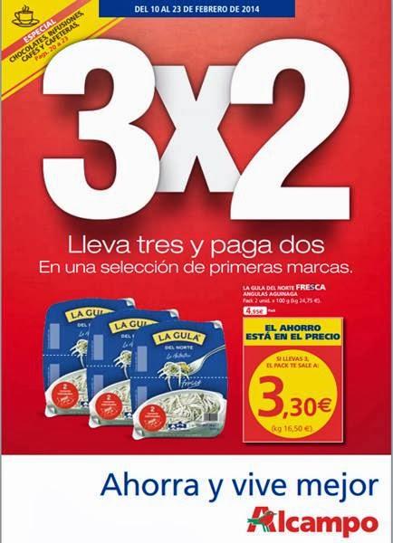catalogo ofertas 3x2 alcampo febrero 2014