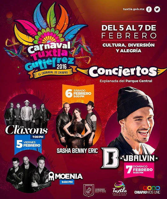 artistas carnaval tuxtla gutierrez 2016