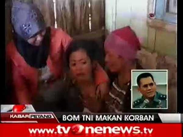 Bom Latihan Gabungan TNI Meledak