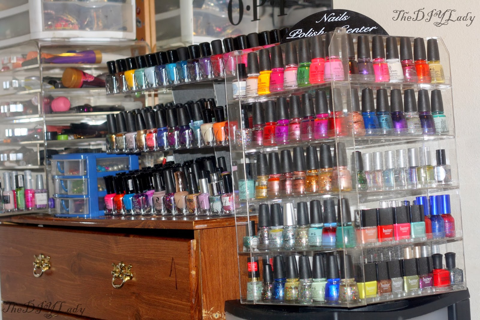 The Do It Yourself Lady: Storage/Stash Update: Nail Polish, Makeup ...