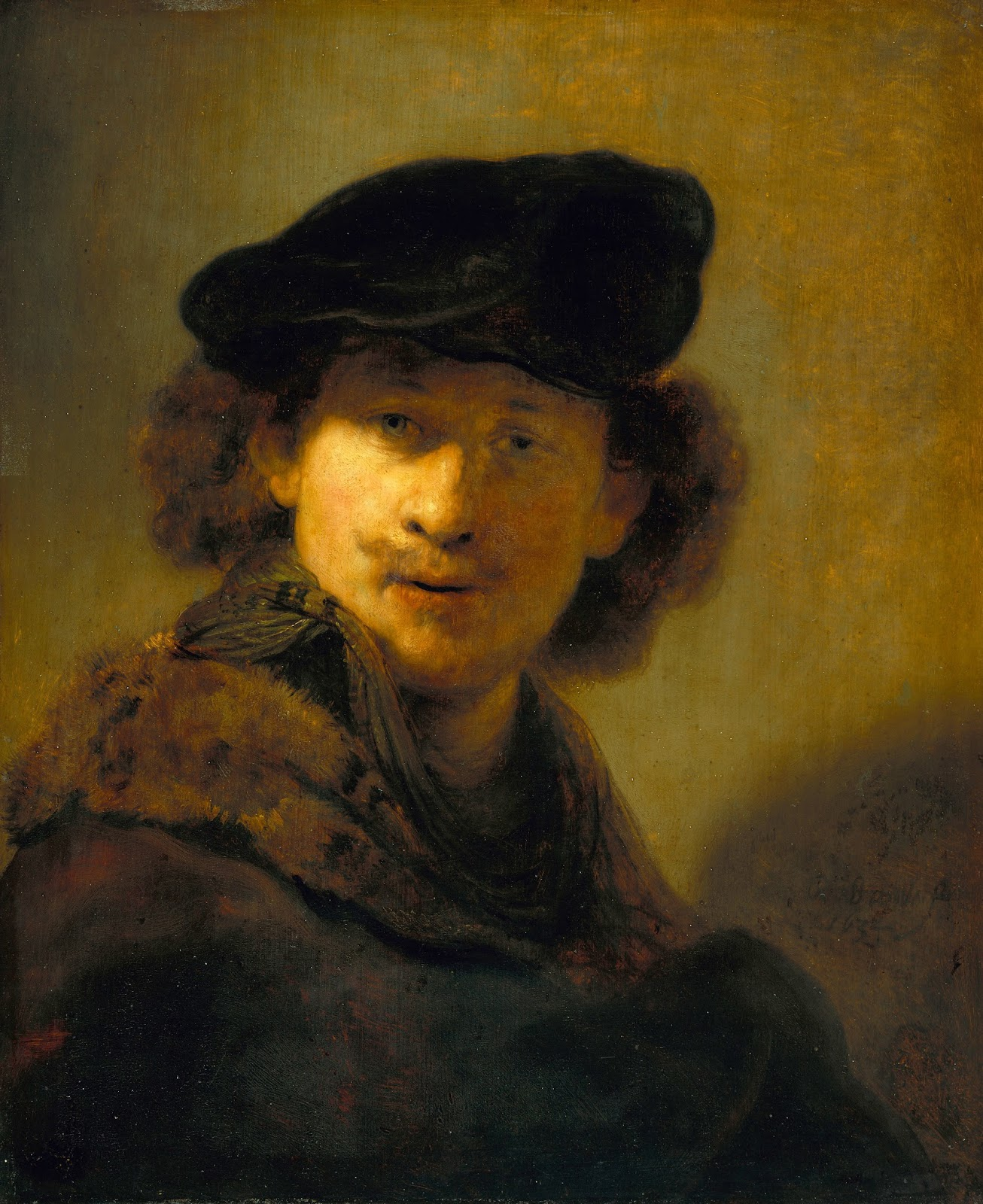 self portraitv Rembrandt, self portrait: the pigment analysis reveals a restricted palette of ochres, lead white and carbon black with minute traces of vermilion rembrandt, self portrait: the pigment analysis reveals a restricted palette of ochres, lead white and carbon black with minute traces of vermilion.