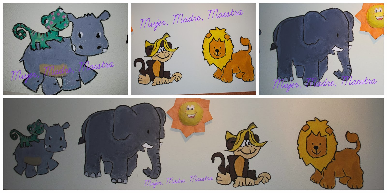 Madre mujer maestra c mo pintar un mural en la pared o - Pintar mural en pared ...