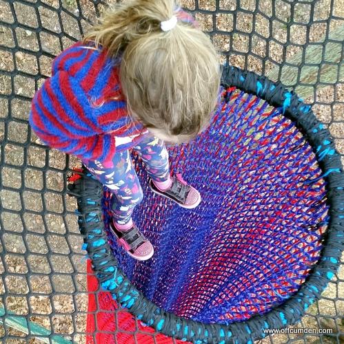 Treetop nets slide Brockhole