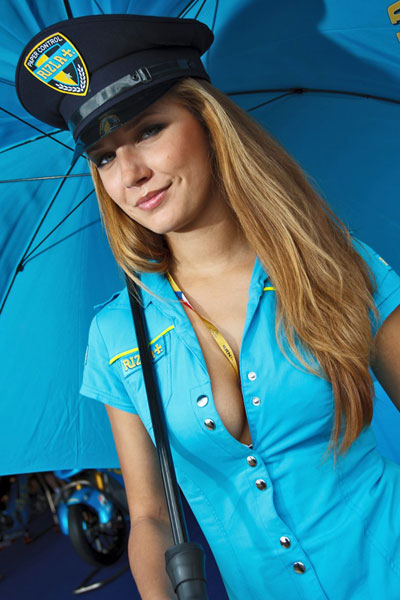 Umbrella Girl Motogp 2013