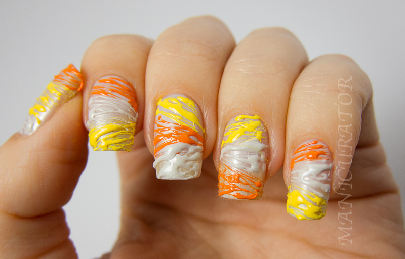 Manicurator Digit Al Dozen Halloween Week Candy Corn String Nail Art