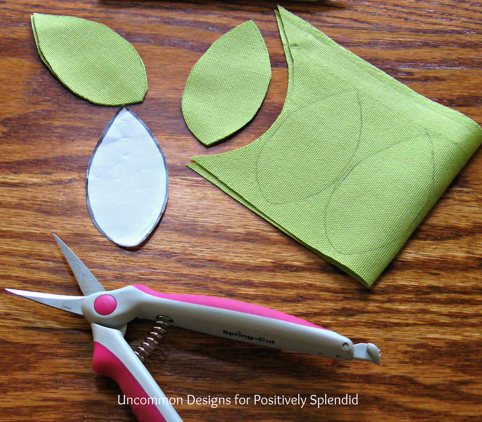 Step 2 : Trace the same leaf shape onto your other two fabrics that ...