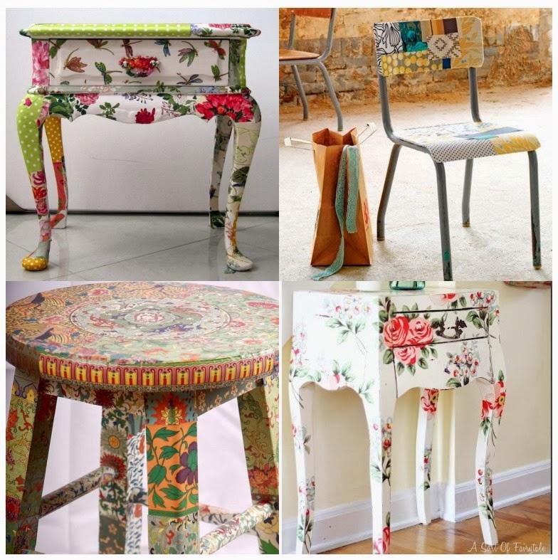 El jardin de los sue os - Decoupage con servilletas en muebles ...