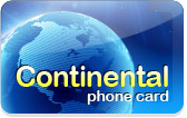 Continental Phone Card