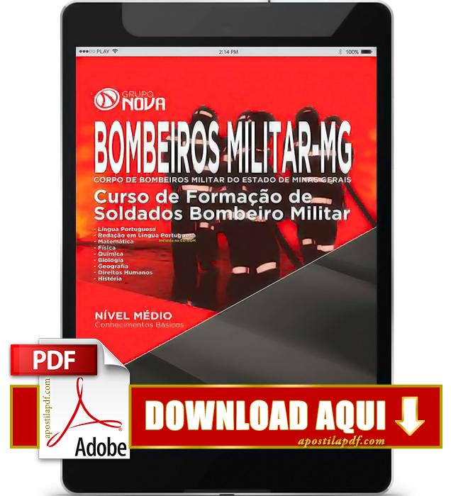 Apostila Soldado Bombeiros MG 2015 PDF Download