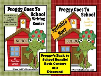 Fern Smith's Bundled Froggy Goes To School Two Pack Center Games for Common Core