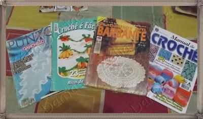 Coleção de revistas em crochê