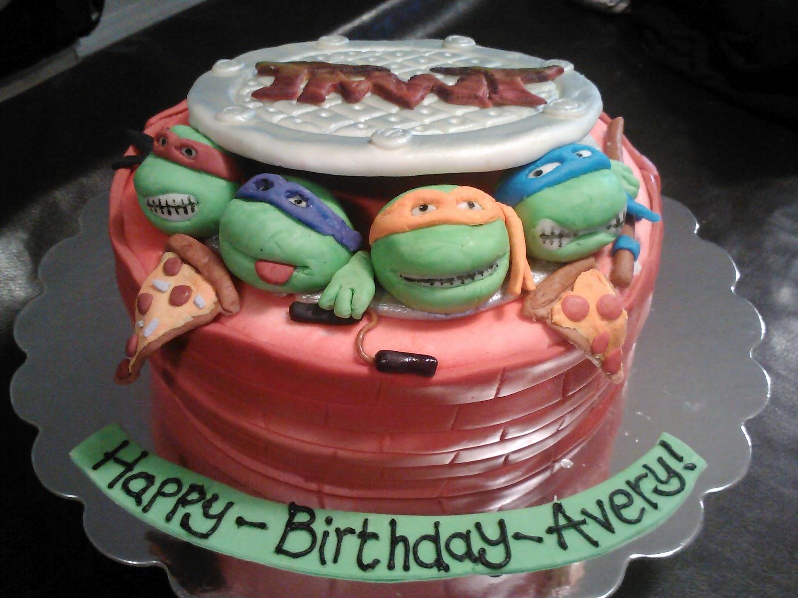 Baby Shower Ninja Turtle Cake