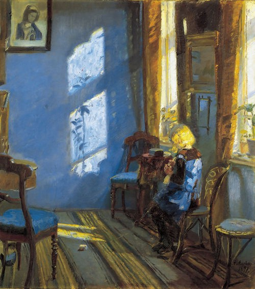 Solskin i den blå stue, Anna Ancher (1891)
