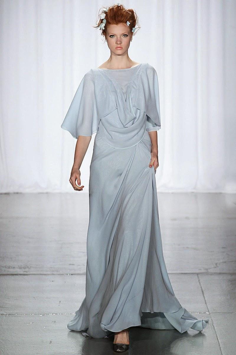 Los vestidos de novia en color celeste la llenan de pureza : La ...
