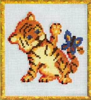 Скачать вышивка тигренок