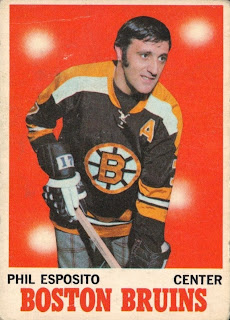 phil esposito 1970-71 o-pee-chee hockey card