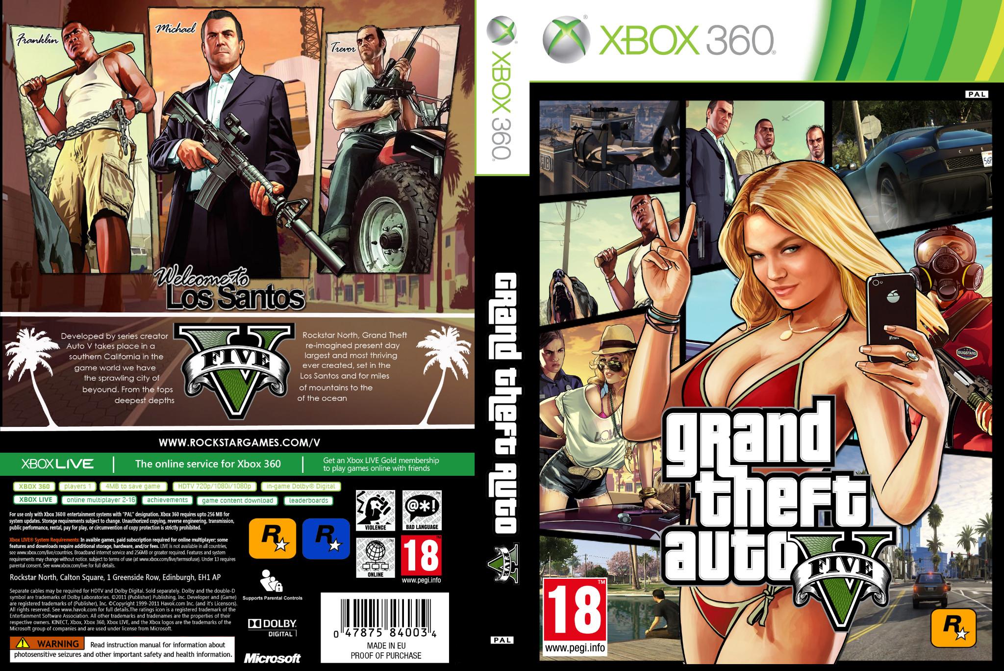 Gta 5 Xbox 360 : Xbox one gta v cover free engine image for user