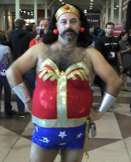 funny picture WonderWoman (is a man)