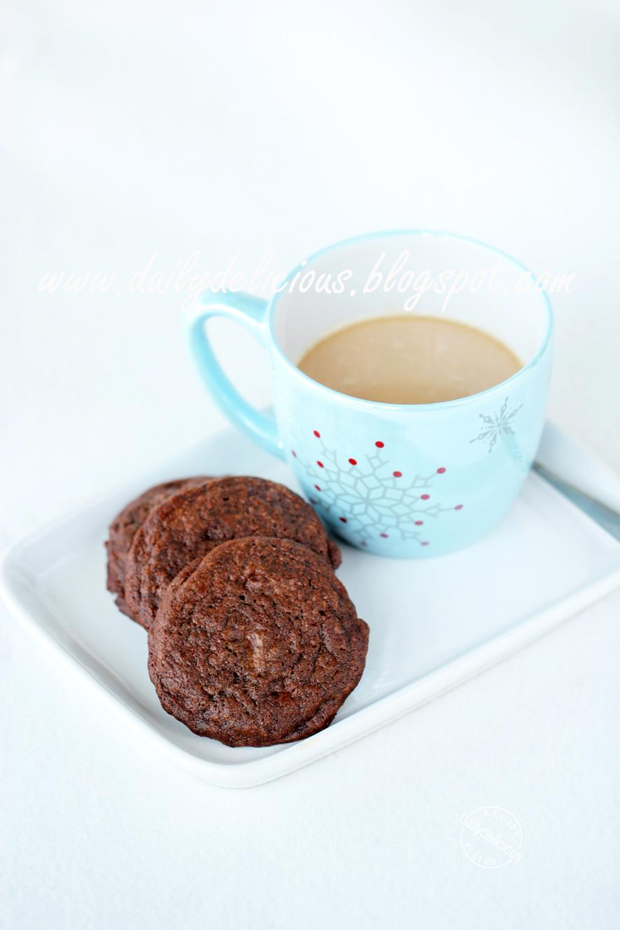 """dailydelicious: Chocolate Chocolate Chunk Cookies: """"Wish you a happy ..."""