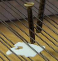 Prepared piano Screws Bread Clip