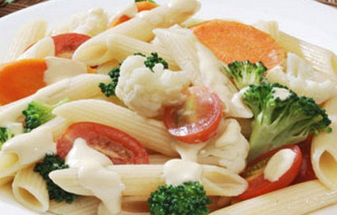 Ensalada de pasta fria con mayonesa