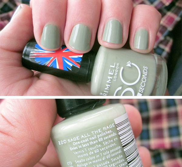 By becca kae tried it rimmel 60 seconds in sage all for How to renew old nail polish