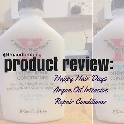 happy hair days argan oil intensive repair conditioner review