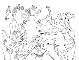 Underwater Fun Printable Coloring Pages