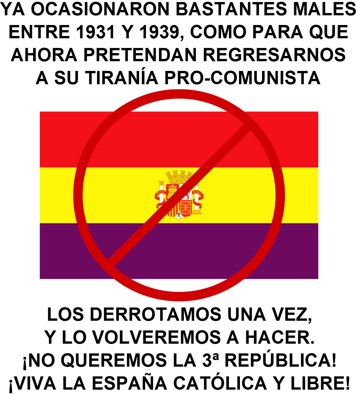 A LOS REPUBLIQUETOS CRIMINALES Y DESMEMORIADOS