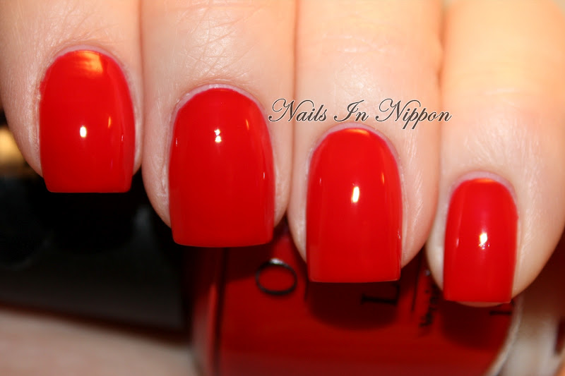 Nails In Nippon: Red Nails With Easy Lace Tutorial