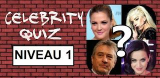 Celebrity Quiz reponse niveau 1