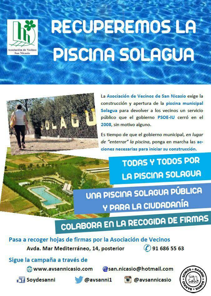 Apv la fortuna todas y todos por la piscina solagua for Piscina solagua leganes