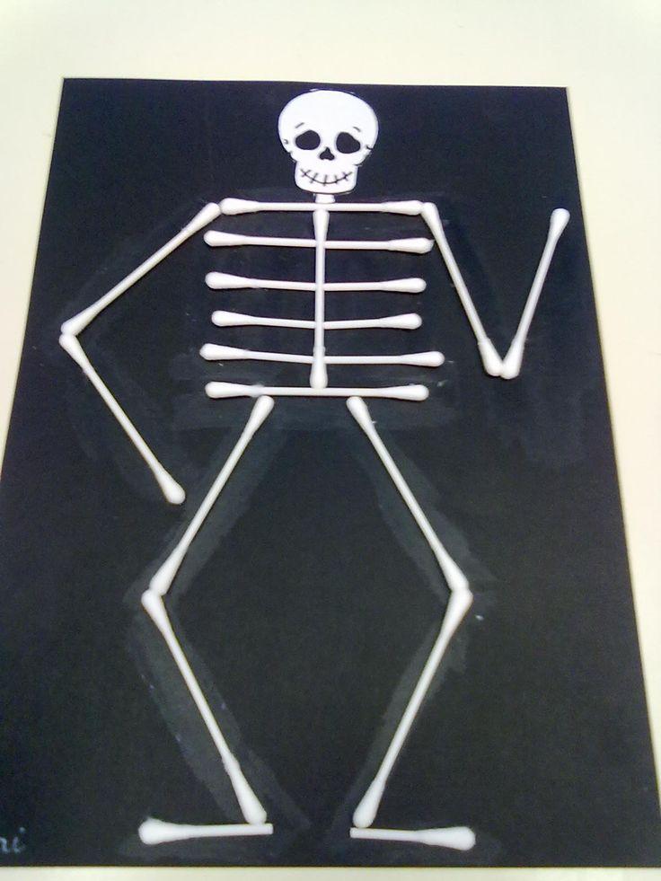 Maestra de infantil esqueleto for Manualidades con palillos de dientes