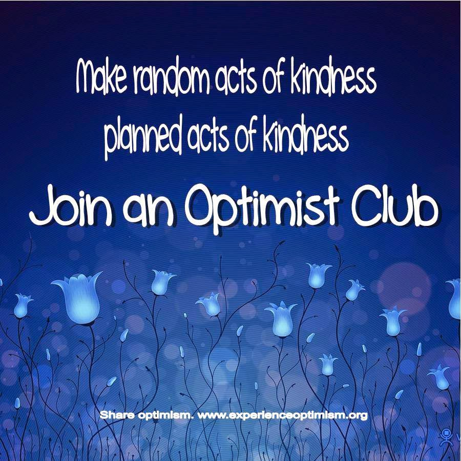 join an optimist club share optimism