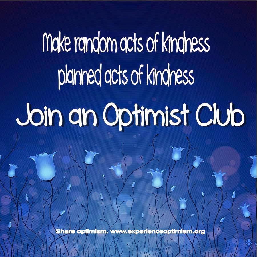 join an optimist club share optimism