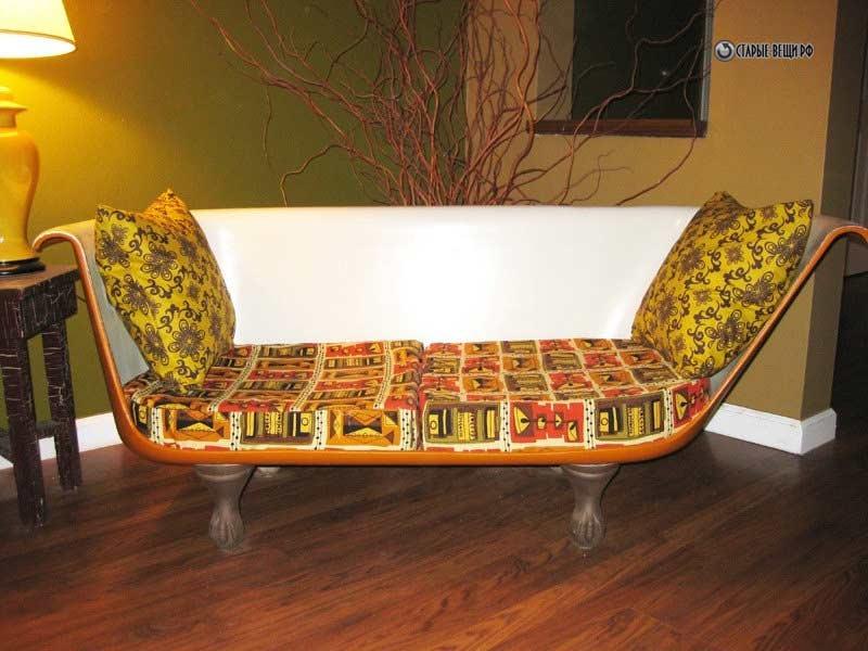 BaÑeras antiguas convertidas en sofÁs   curiosas ideas