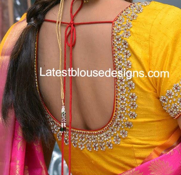 Designer blouses for wedding silk sarees