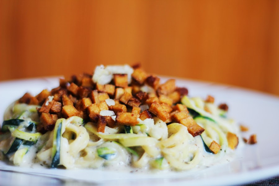 räuchertofu caronara vegan essen