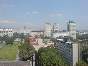 Imagen de Tlatelolco en 1985 antes del sismmo.