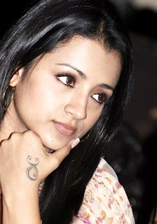 Indian Celebrity Trisha Tattoo photo Gallery